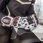 Moto rukavice TRACTECH White/black